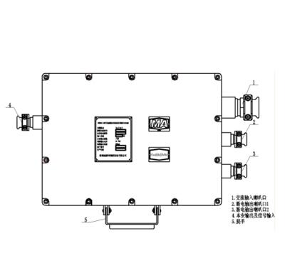 该直流电经过双重过流过热保护及过压保护电路后,分别提供8路额定电压